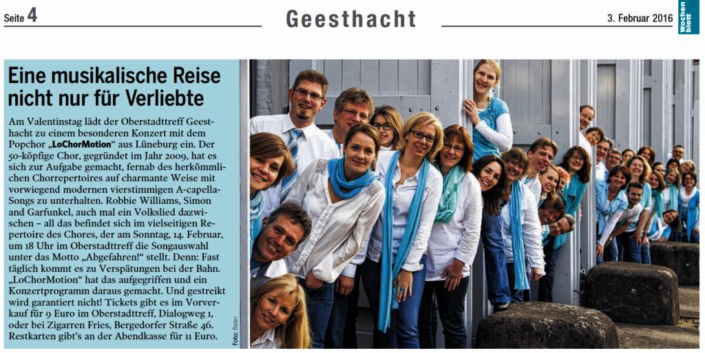 Geesthachter Wochenblatt 03.02.2016