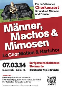 2014 Männer, Machos und Mimosen
